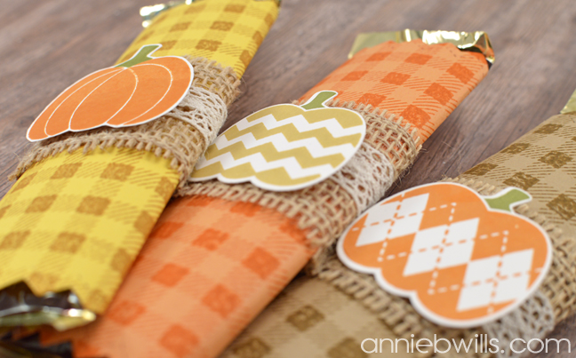 Easy Halloween Candy Bar Wrappers by Annie Williams - Detail