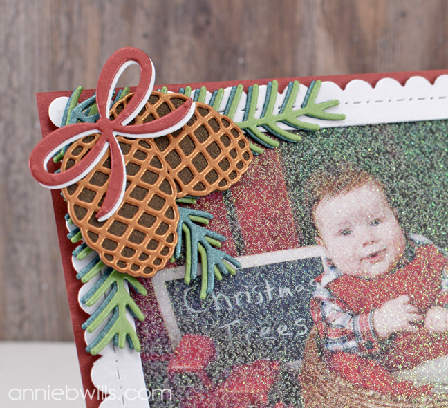 christmas-photo-frame-easel-card-by-annie-williams-detail