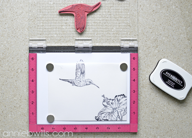 Hummingbird Mail Art by Annie Williams - Stamping