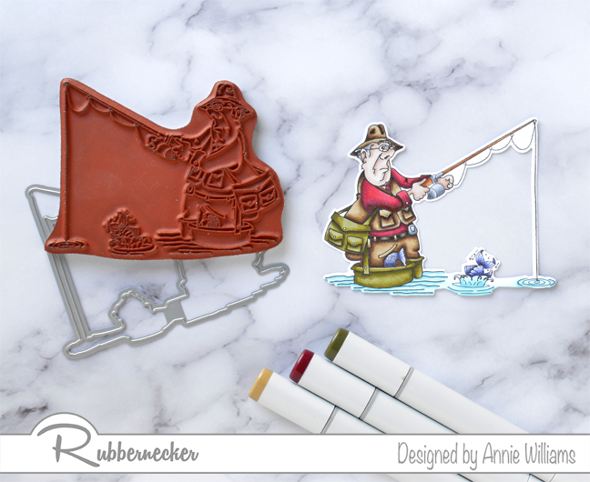 Rubbernecker Blog Fishing-You-All-The-Best-Card-by-Annie-Williams-Coloring