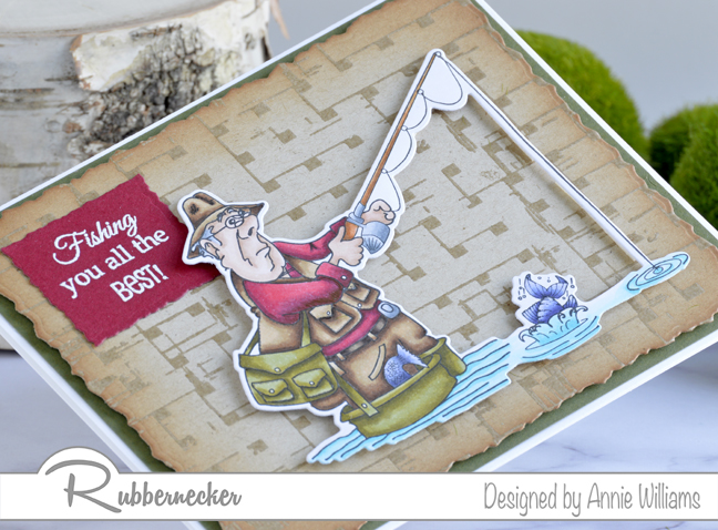 Rubbernecker Blog Fishing-You-All-The-Best-Card-by-Annie-Williams-Detail