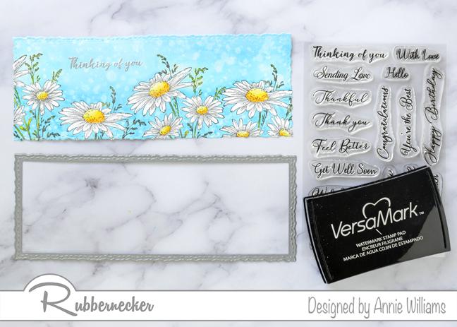 Rubbernecker Blog Slimline-Floral-Cards-Two-Ways-by-Annie-Williams-Daisy-Card-Diecutting