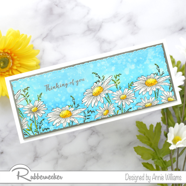 Rubbernecker Blog Slimline-Floral-Cards-Two-Ways-by-Annie-Williams-Daisy-Card