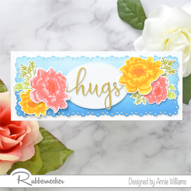 Rubbernecker Blog Slimline-Floral-Cards-Two-Ways-by-Annie-Williams-Hugs-Card