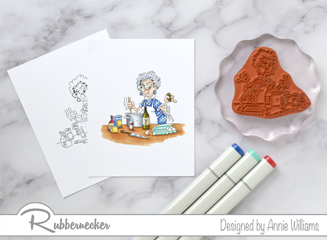 Rubbernecker Blog Ethel-Cooking-With-Too-Much-Wine-Card-by-Annie-Williams-Coloring-Ethel