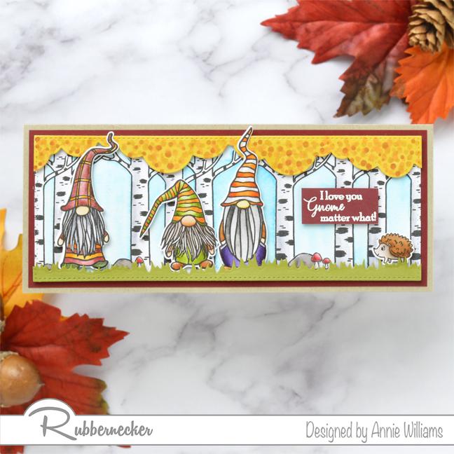 Rubbernecker Blog Autumn-Woodland-Slimline-Scene-Cards-by-Annie-Williams-Autumn-Gnomes