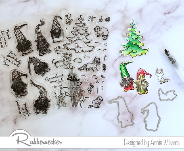 Rubbernecker Blog Winter-Gnome-Slimline-Card-by-Annie-Williams-Coloring