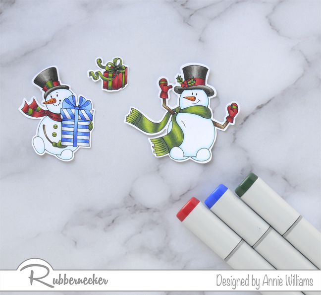 Rubbernecker Blog Snowman-Slimline-Card-by-Annie-Williams-Coloring