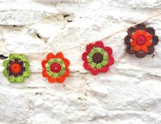 Crochet flower garland anniedesigncrochet