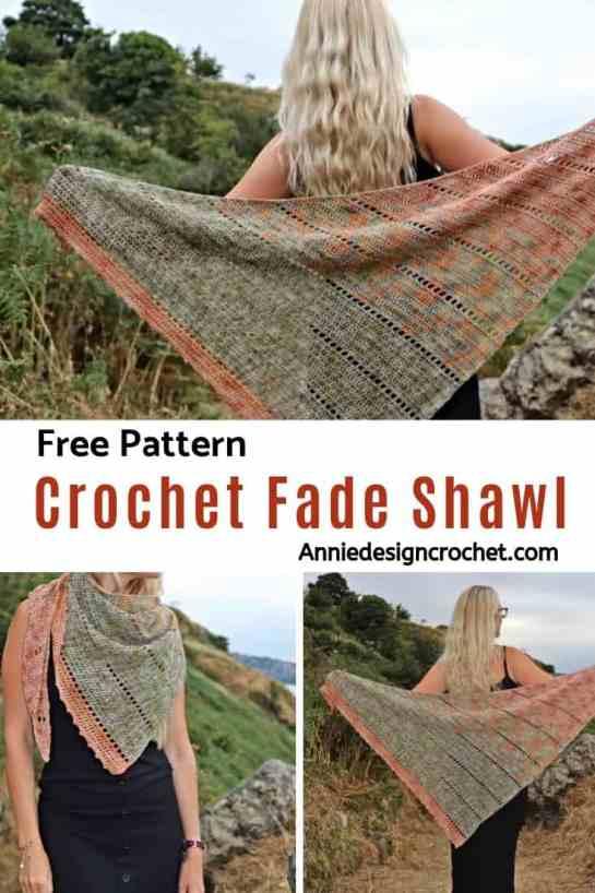 Crochet Fade Shawl Free Pattern