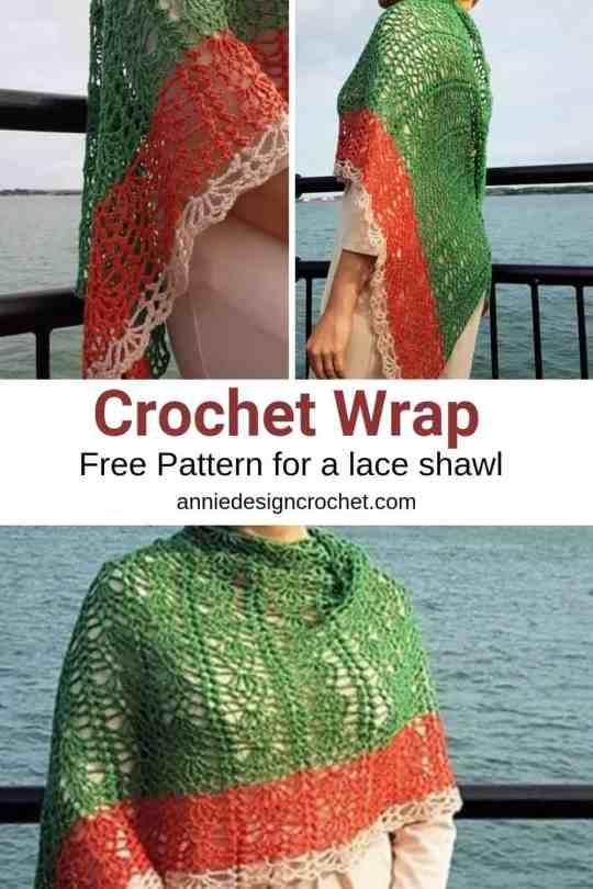 crochet lace wrap free pattern
