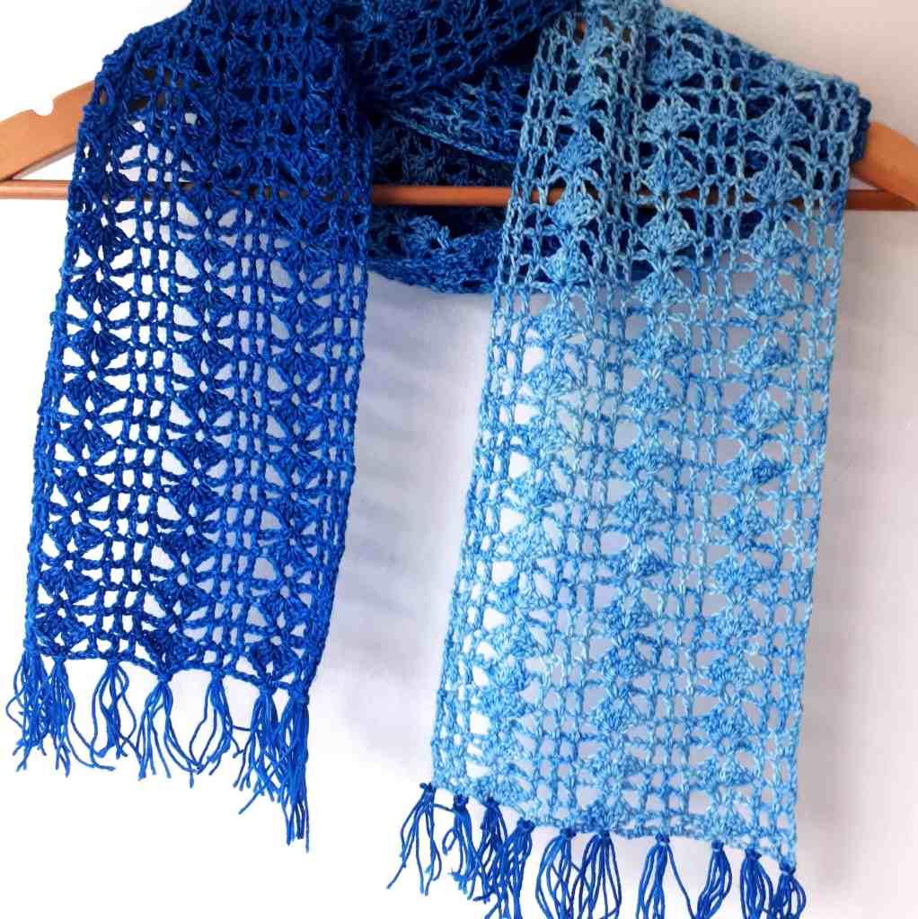 One Skein Crochet Scarf Pattern – Indigo Scarf