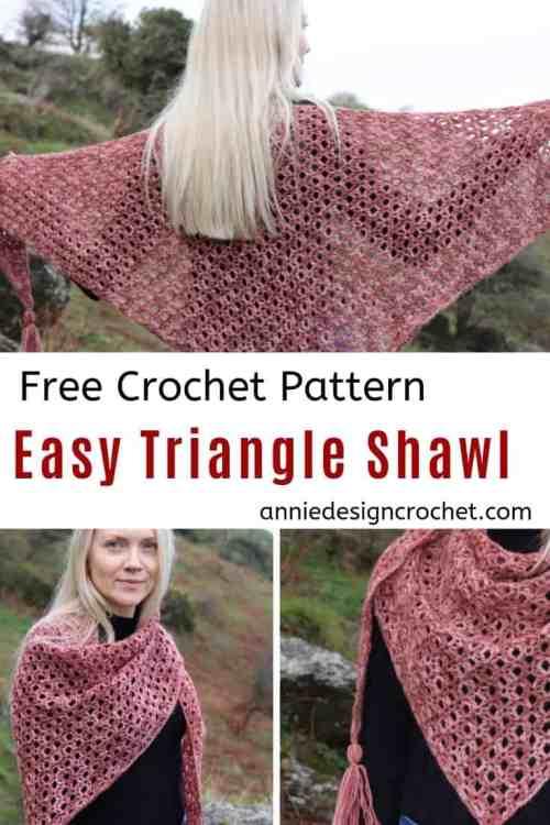 crochet triangle shawl free pattern Halo