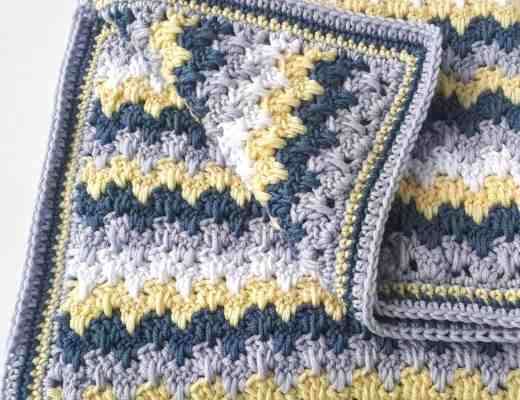 Crochet Free pattern for modern baby blanket from Annie Design Crochet
