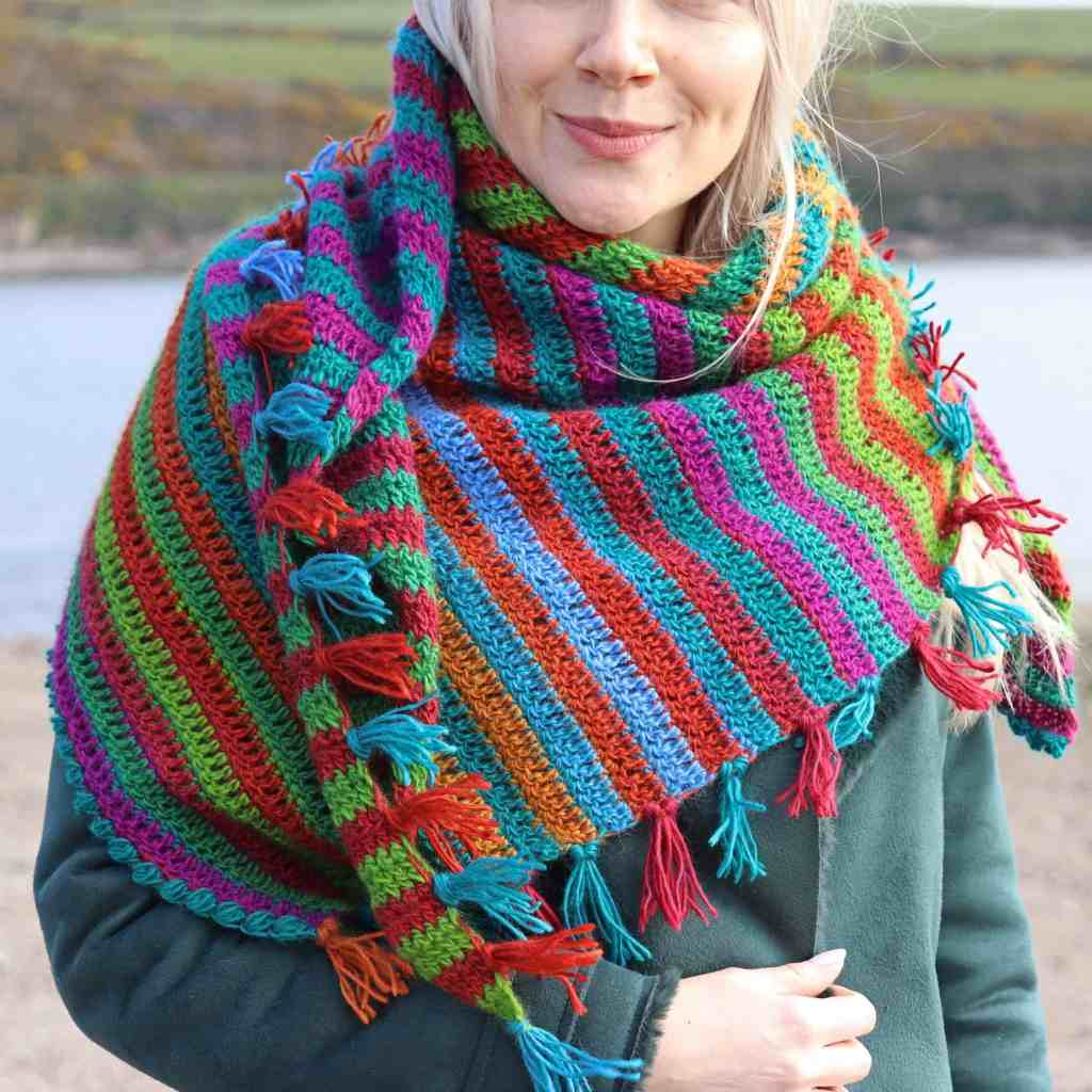 Wild Teasel Shawl – Free Crochet Pattern