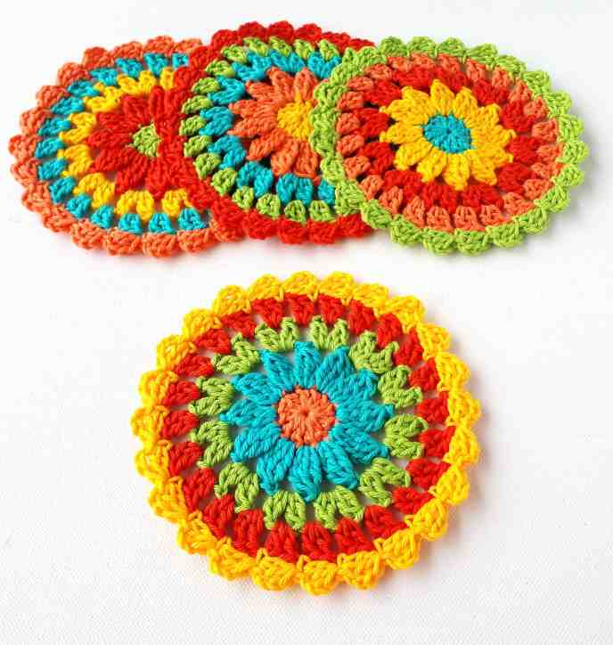 crochet coaster easy free pattern