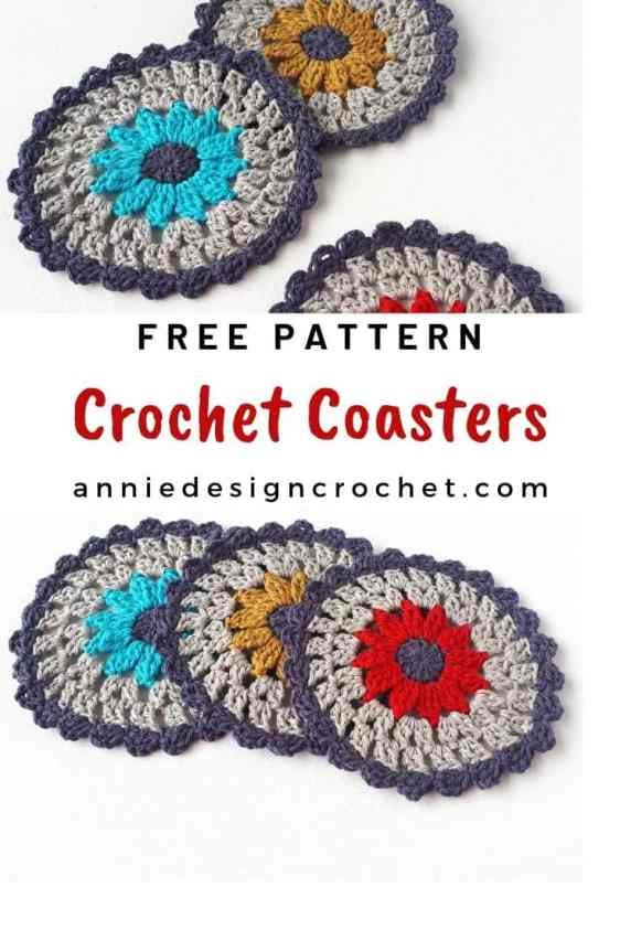 free pattern for easy modern coasters