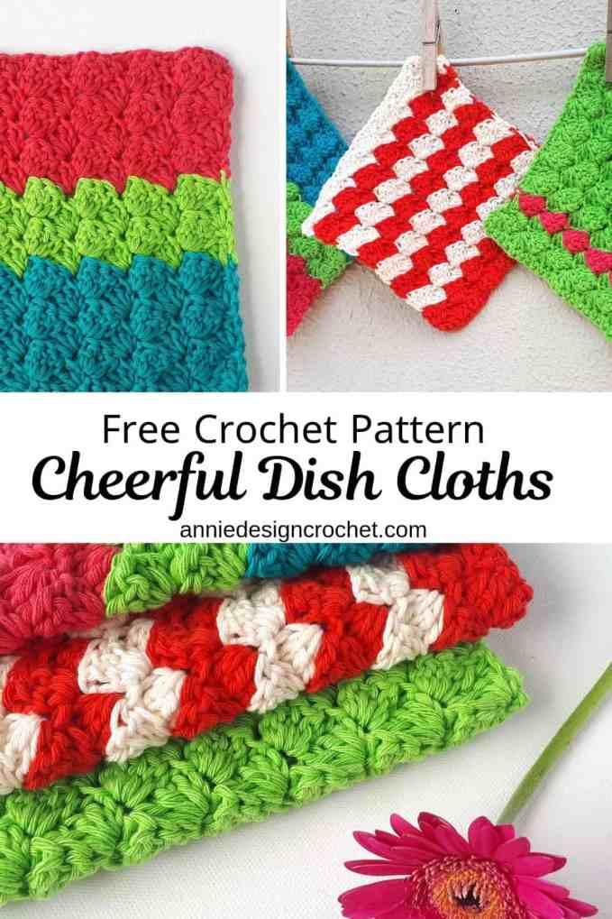crochet dishcloth easy pattern