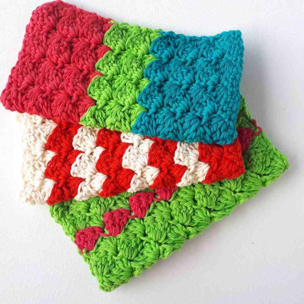 Cheery Crochet Dish Cloths – Free Pattern