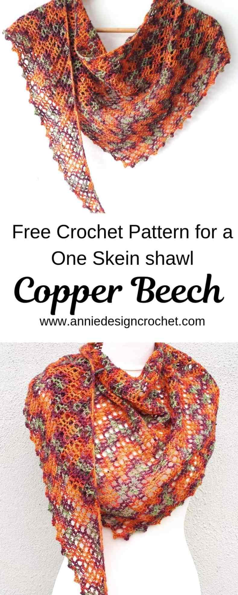 crochet shawl free pattern one skein