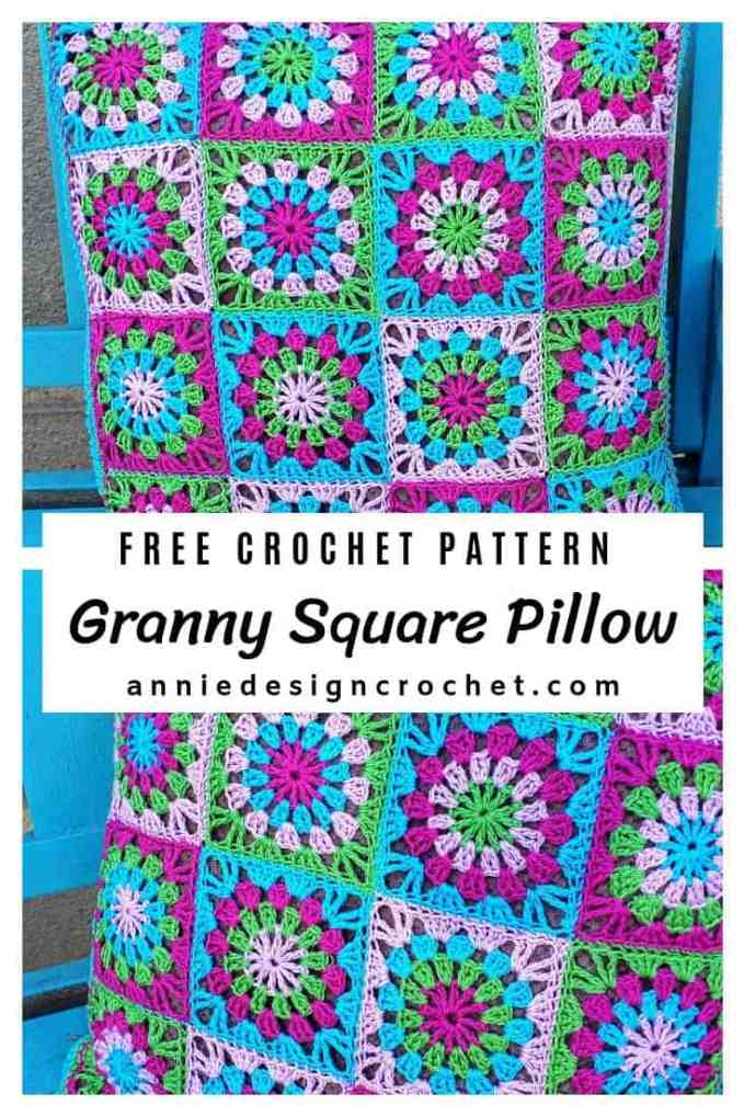 crochet granny pillow free pattern