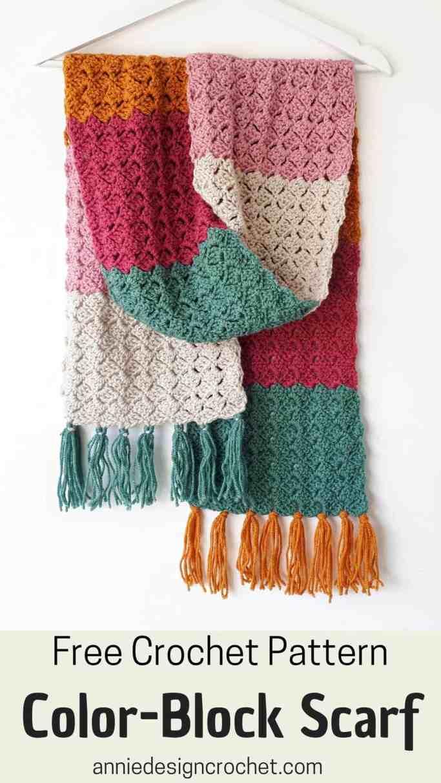 crochet winter scarf free pattern