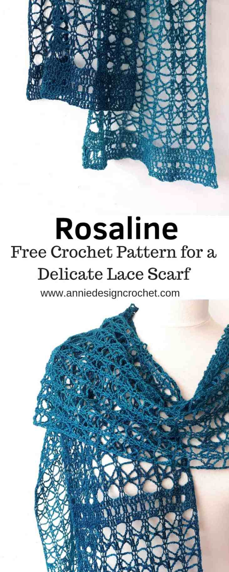 crochet lace scarf easy pattern