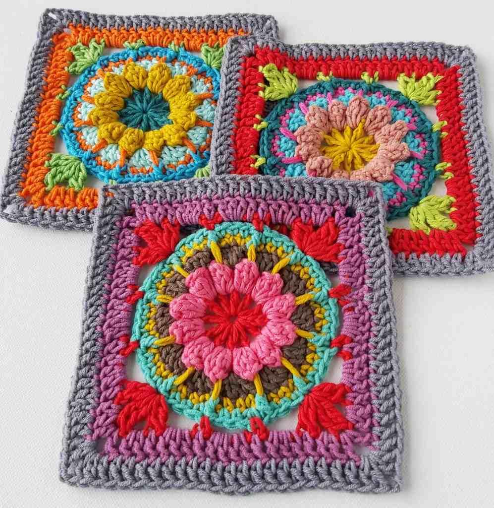 Hydrangea – Square 4 of Blaithin Blanket Stash Busting CAL
