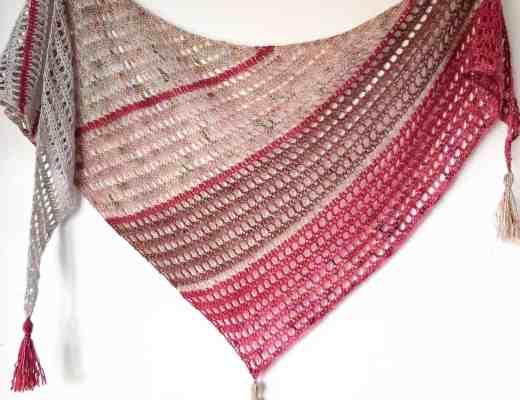 crochet boomerang shawl free pattern