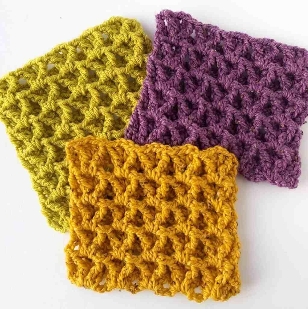 Reversible V-Stitch Waffle Crochet Tutorial