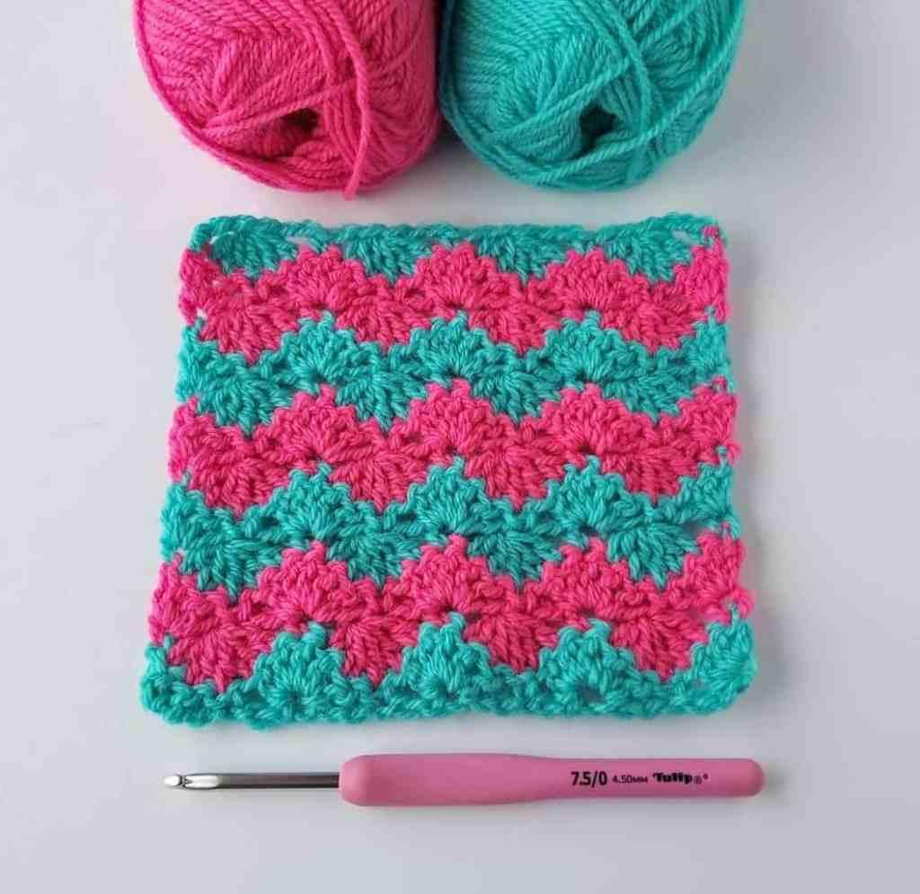 How to Crochet Interlocking Shell Stitch