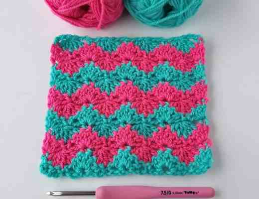 interlocking shell crochet stitch