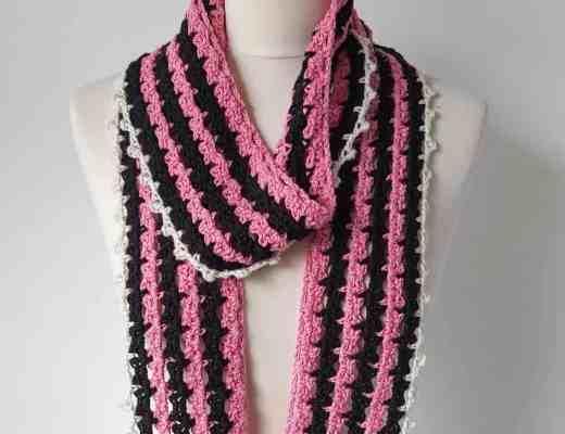 crochet skinny scarf pattern