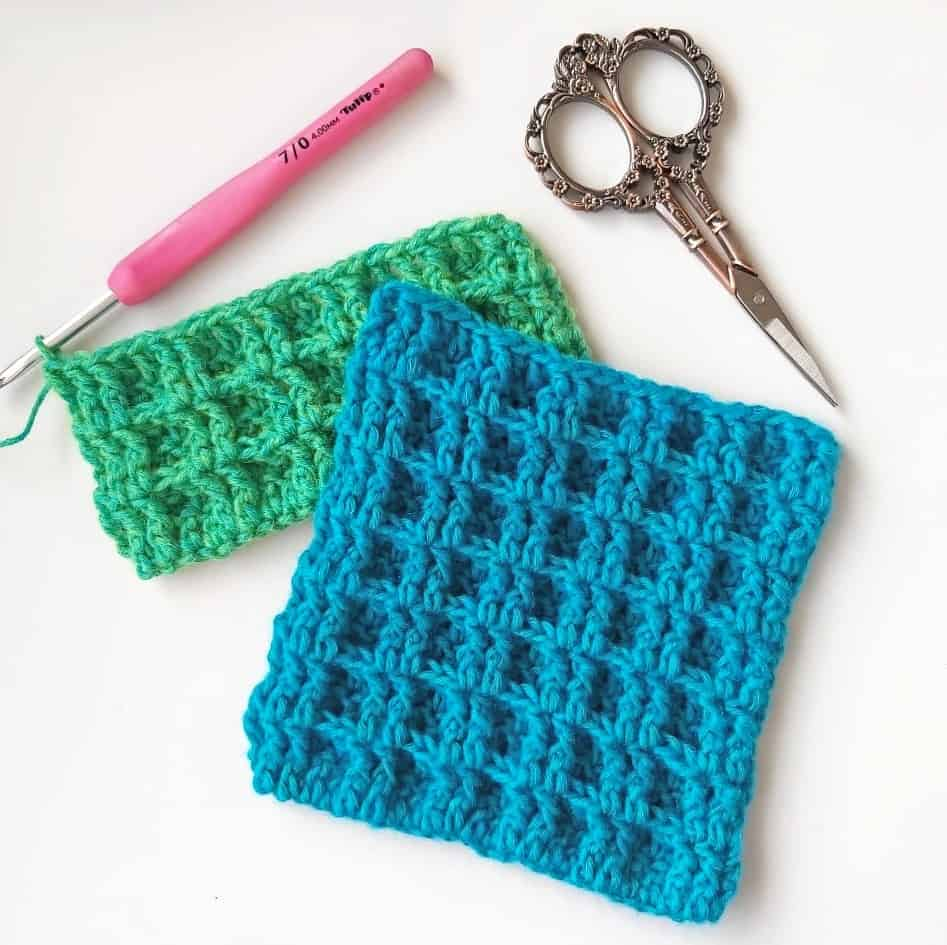 How to Crochet Double Waffle Stitch