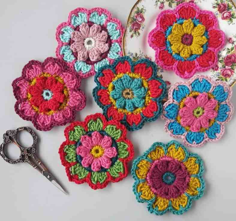large crochet flower pattern