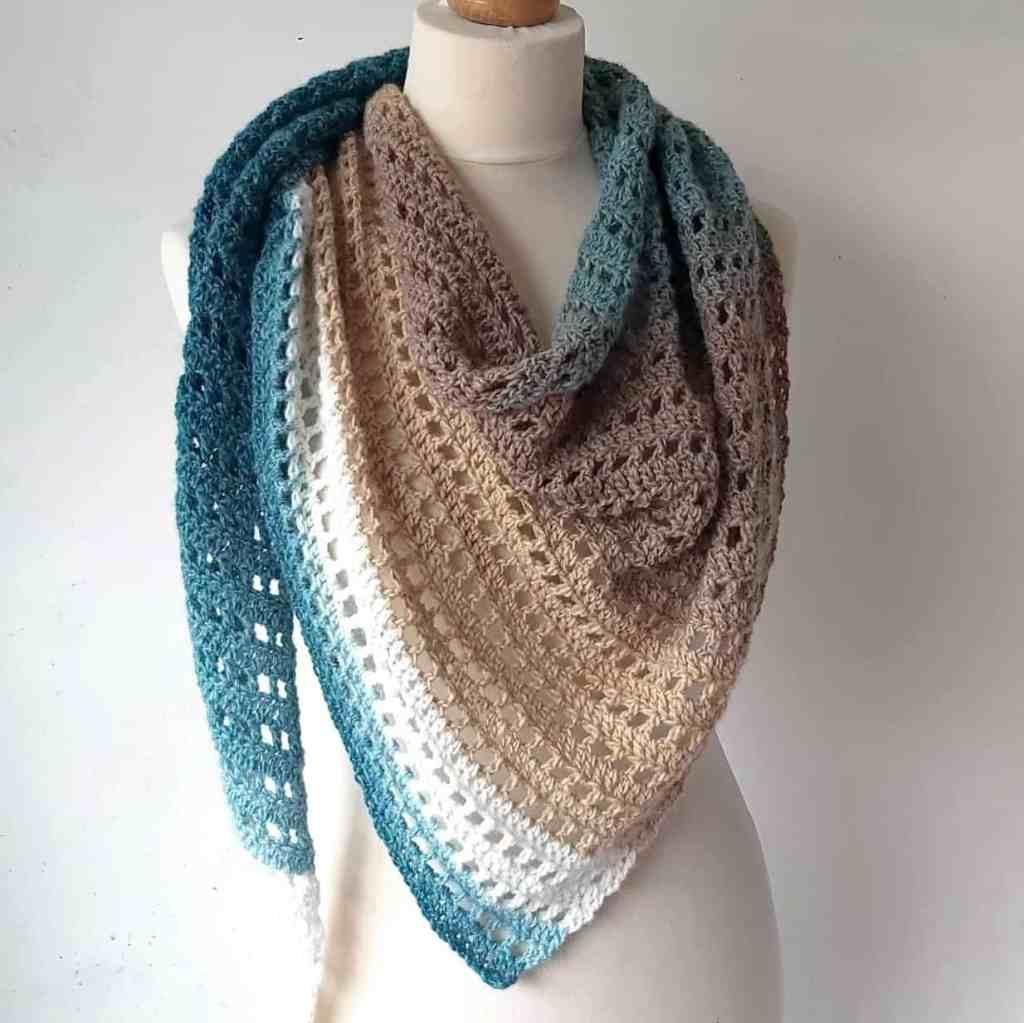 Crochet Cake Yarn Shawl – Free Pattern