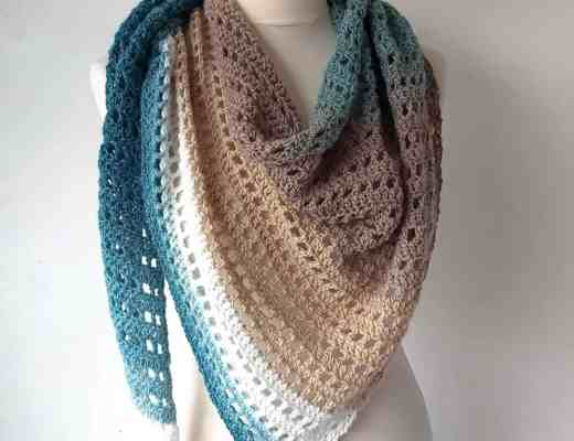 crochet cake yarn shawl pattern