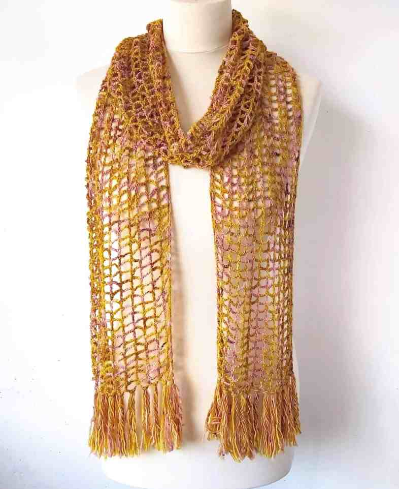 simple lace crochet scarf pattern