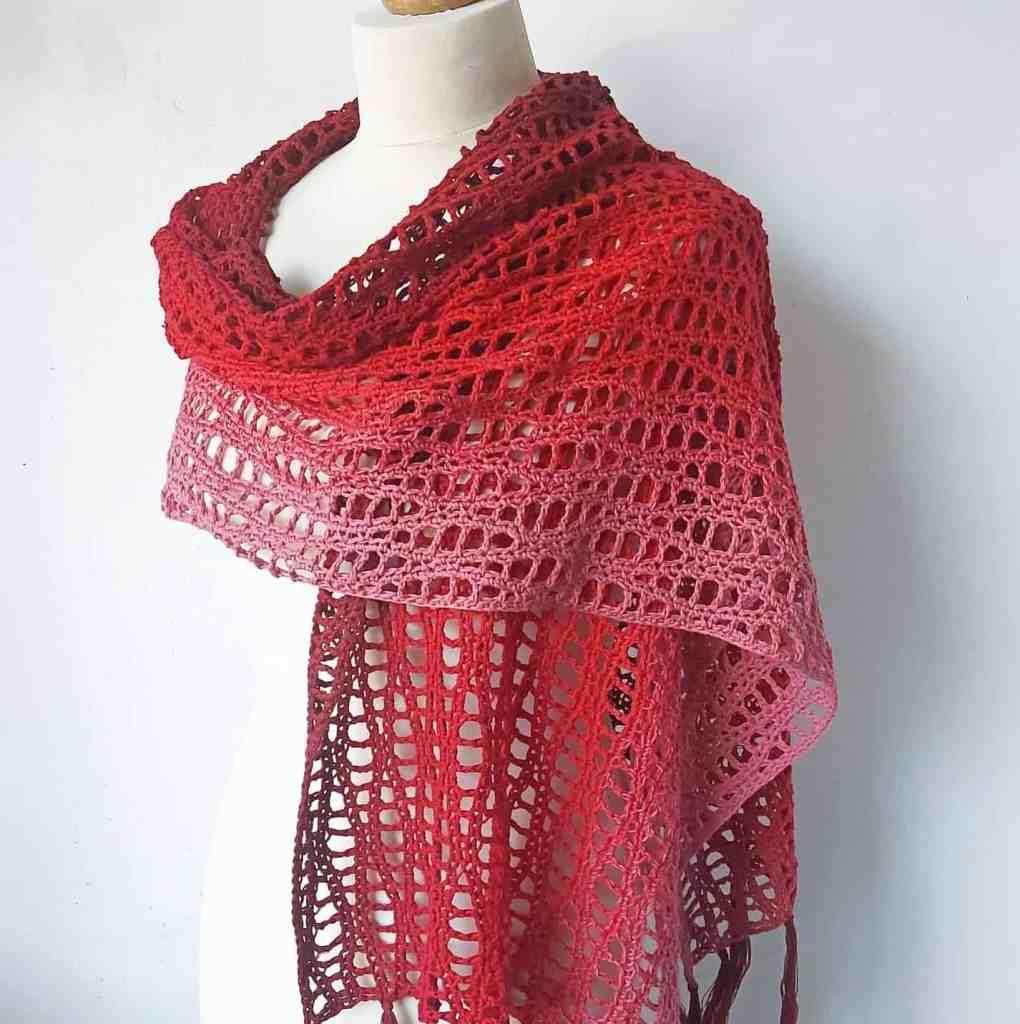 Crochet Wave Shawl Pattern – Loganberry
