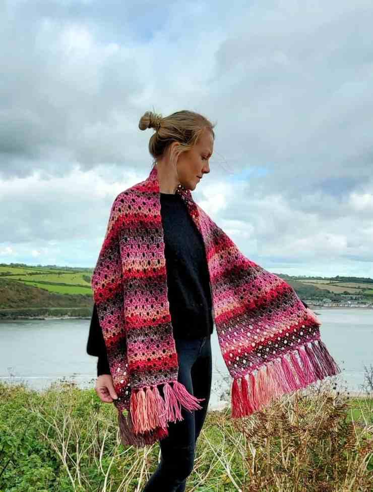 cozy crochet blanket scarf
