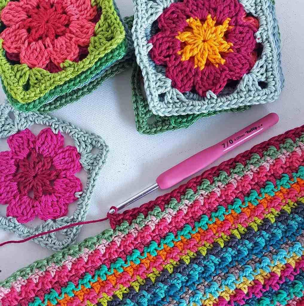 Scrap Busting Blankets in Cotton Yarn