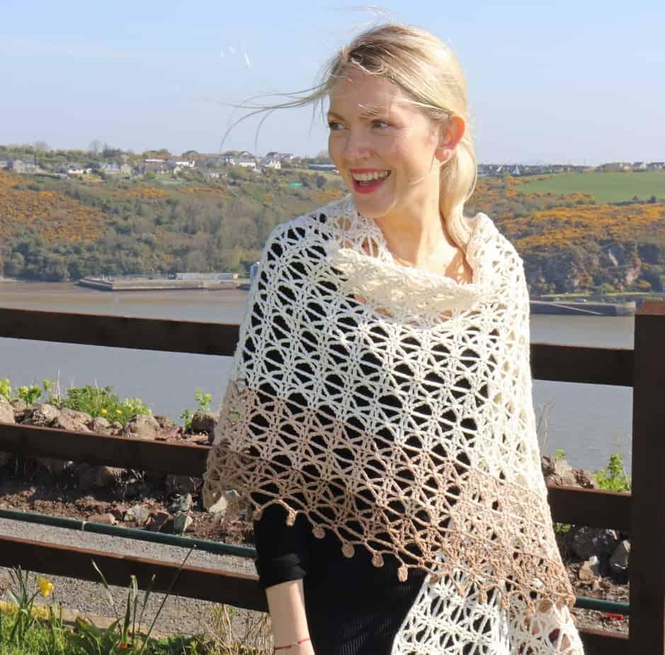 Delicate Crochet Shawl – Venetia Wrap