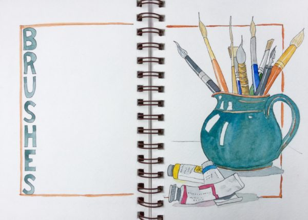 Sketching My Art Supplies | Sketching and Painting the Moments