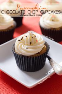 Pumpkin Chocolate Chip Cupcakes