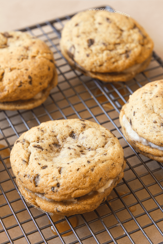 Banoffee Sandwich Cookies