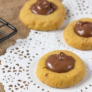 Pumpkin Nutella Thumbprint Cookies