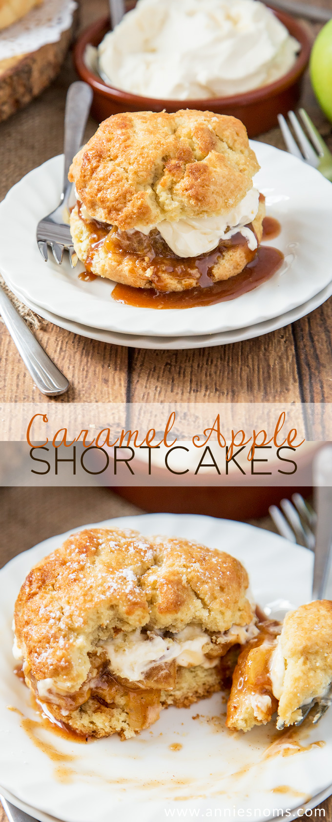 Flaky, buttery shortcakes filled with tender apples cooked in caramel sauce and topped with sweetened whipped cream. One seriously decadent, yet addictive dessert!