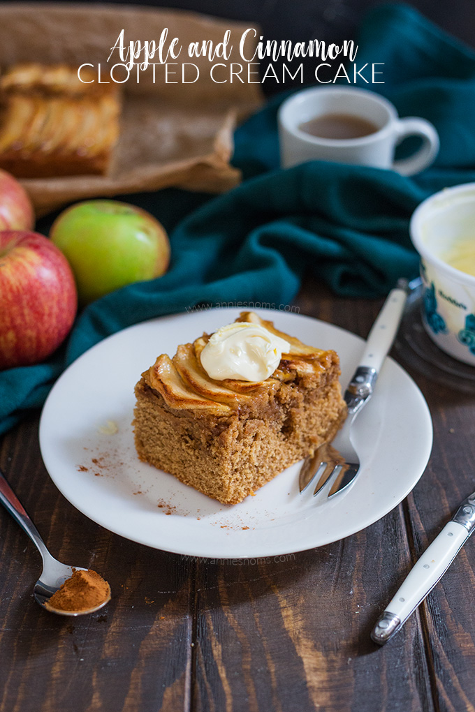 This amazing Apple and Cinnamon cake has an ingredient I've never used in a cake before: clotted cream and boy does it add a great texture to this cake!