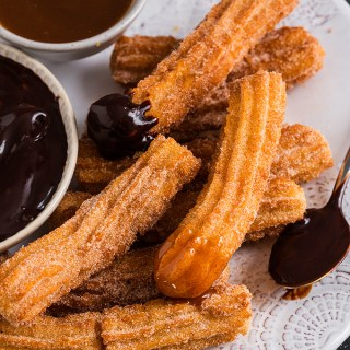 These Homemade Churros are easy to make and taste unreal! Crispy, fluffy and ready in under 30 minutes, you'll always be able to satisfy your craving!
