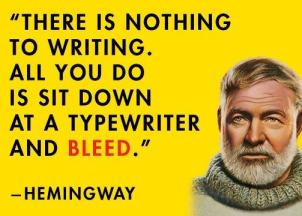 writing quote Hemingway